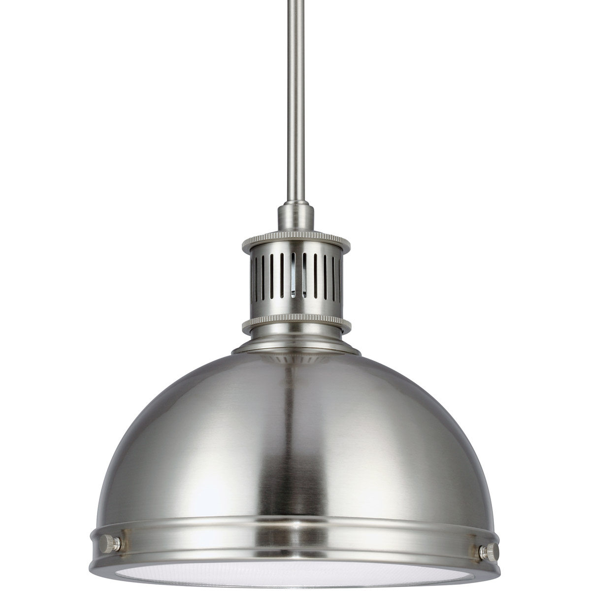Sea Gull 65085BLE-962 Pratt Street Metal 1 Light 10 inch Brushed Nickel Pendant Ceiling Light in Fluorescent photo