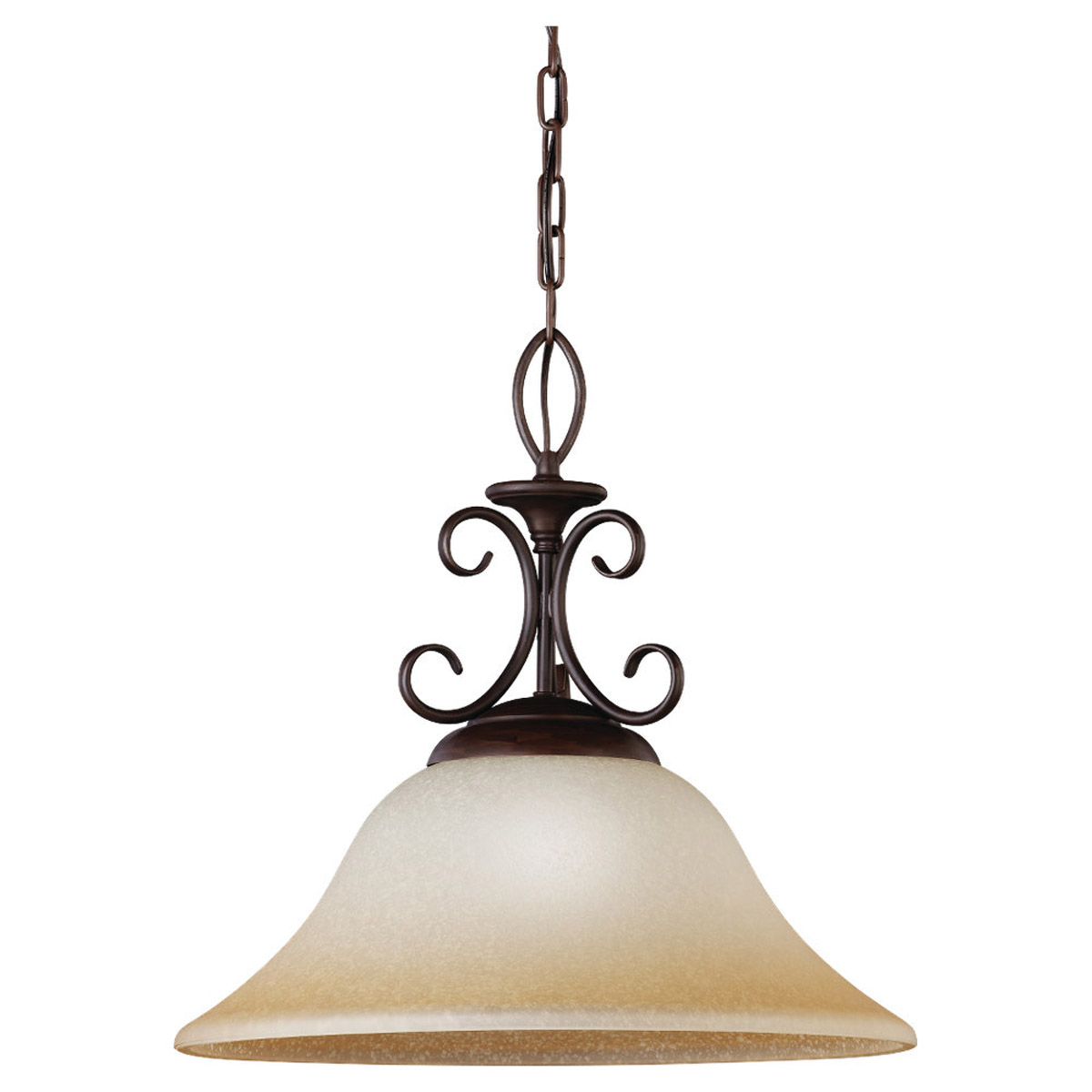 Sea Gull Lighting Montclaire 1 Light Pendant in Olde Iron 65105-72