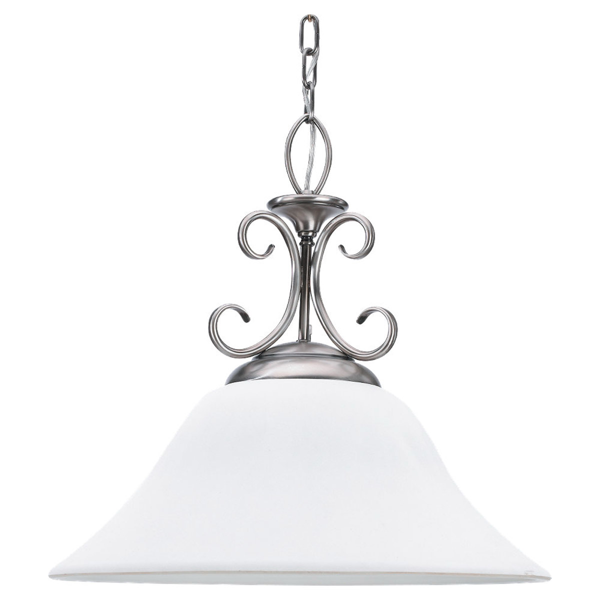 Sea Gull Lighting Montclaire 1 Light Pendant in Antique Brushed Nickel 65105-965