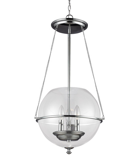 Sea Gull 6511903-05 Havenwood 3 Light 15 inch Chrome Pendant Ceiling Light photo