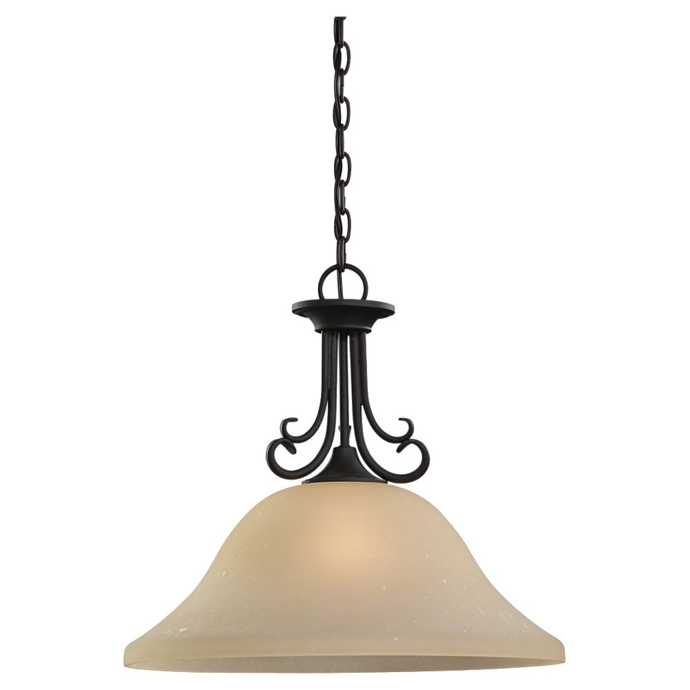 Sea Gull Lighting Del Prato 1 Light Pendant in Chestnut Bronze 65121-820