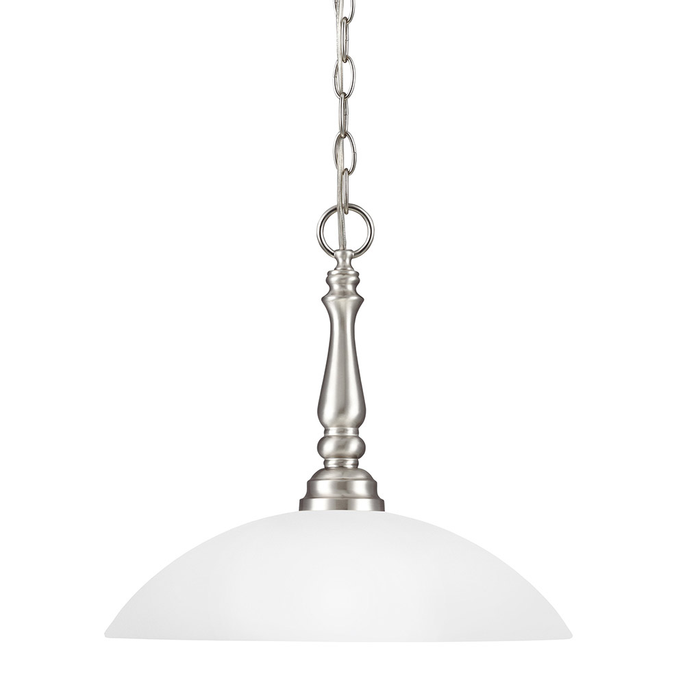 Sea Gull Northbrook 1 Light Pendant in Brushed Nickel 6512401-962