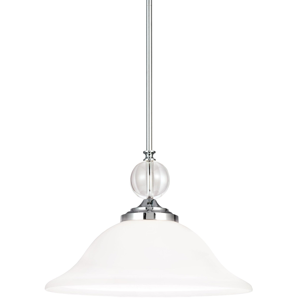 Sea Gull 6513401BLE-05 Englehorn 1 Light 16 inch Chrome / Optic Crystal Pendant Ceiling Light in Fluorescent photo