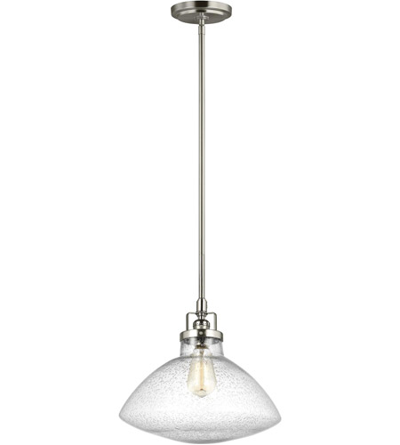 Sea Gull 6514501-962 Belton 1 Light 13 inch Brushed Nickel Pendant Ceiling Light photo