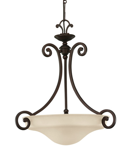 Sea Gull Lighting Acadia 3 Light Pendant in Misted Bronze 65146-814