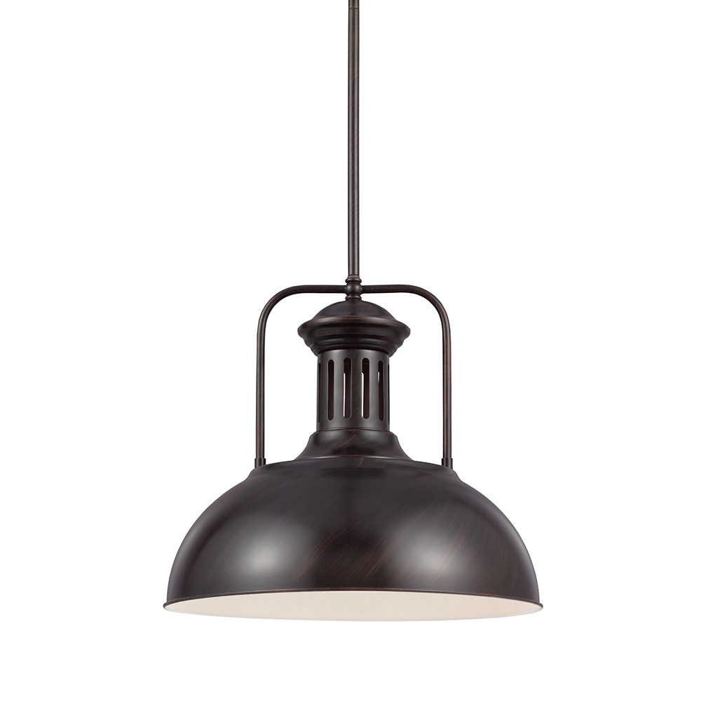 Sea Gull Beacon Street 1 Light Pendant in Burnt Sienna 6515401-710