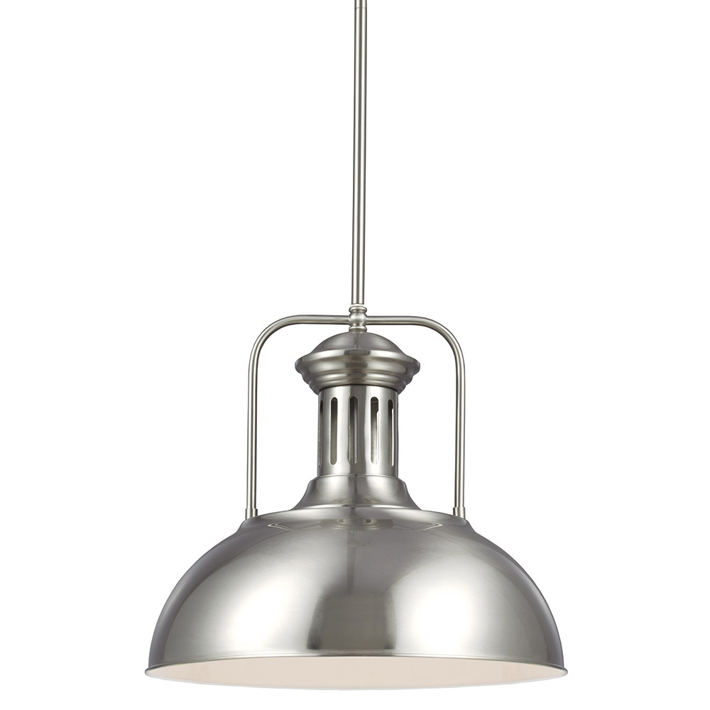 Sea Gull Beacon Street 1 Light Pendant in Brushed Nickel 6515401-962