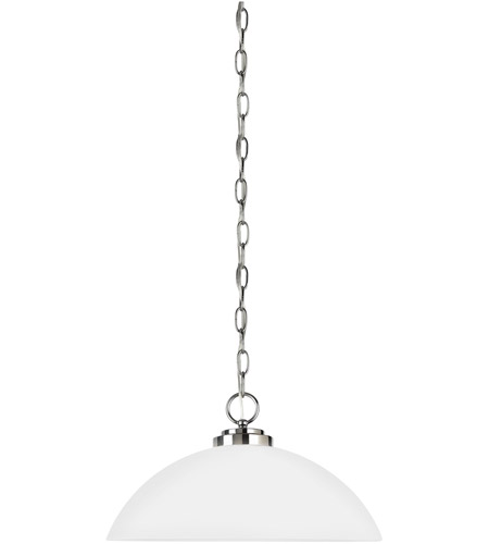 Sea Gull Lighting Oslo 1 Light Pendant in Chrome 65160-05