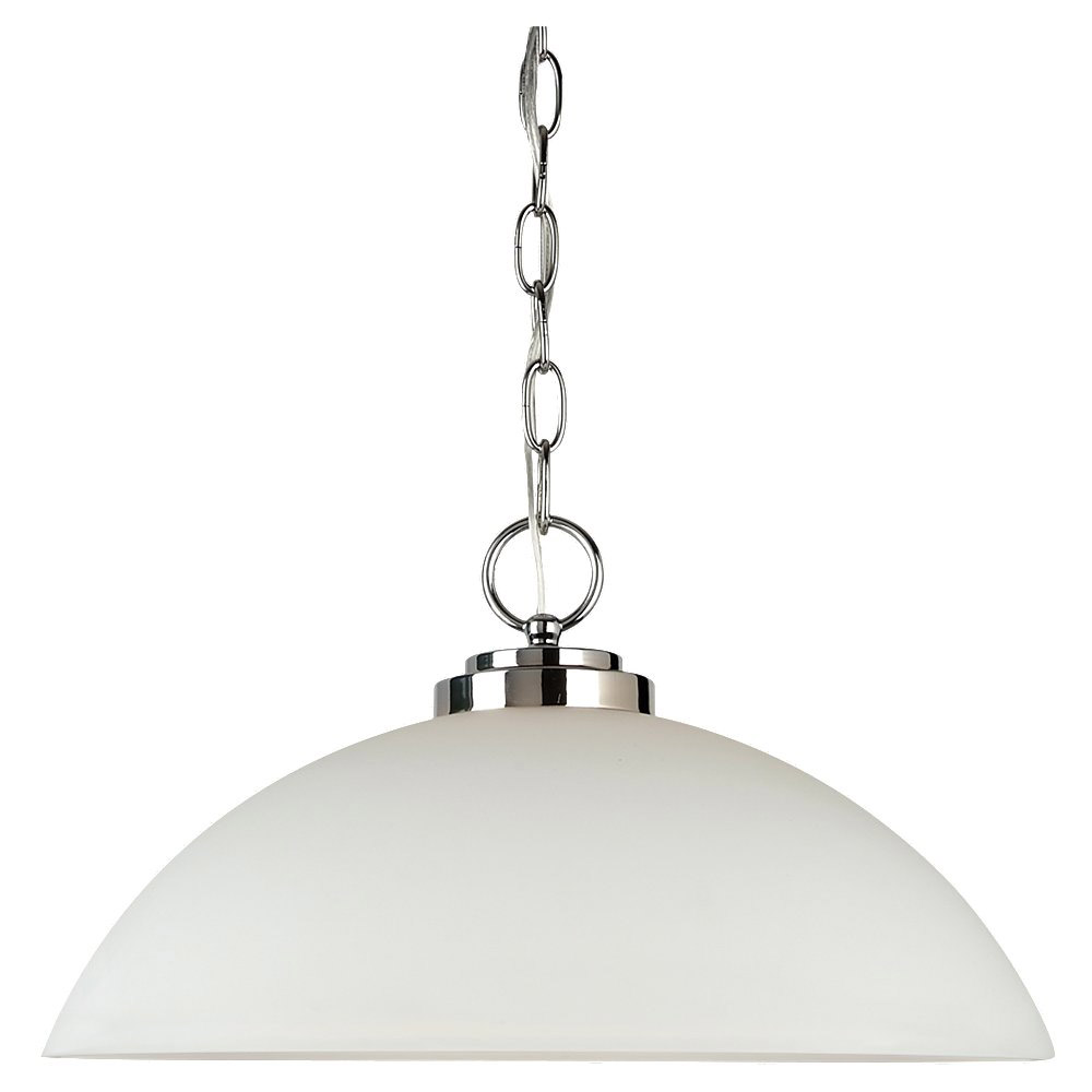 Sea Gull Lighting Oslo 1 Light Pendant in Chrome 65160BLE-05