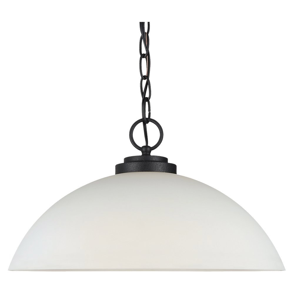 Sea Gull Lighting Oslo 1 Light Pendant in Blacksmith 65160BLE-839