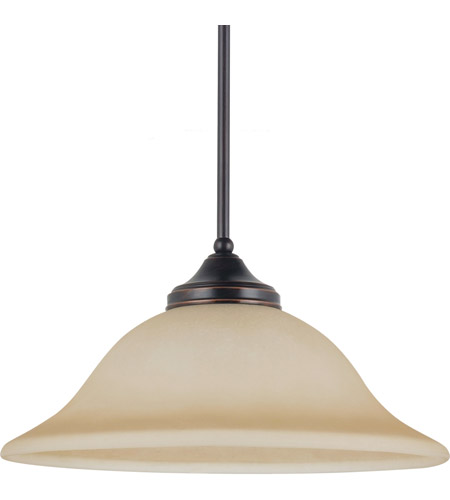 Sea Gull Lighting Brockton Fluorescent 1 Light Pendant in Burnt Sienna 65174BLE-710