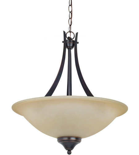Sea Gull 65175-710 Brockton 3 Light 20 inch Burnt Sienna Pendant Ceiling Light in Standard photo