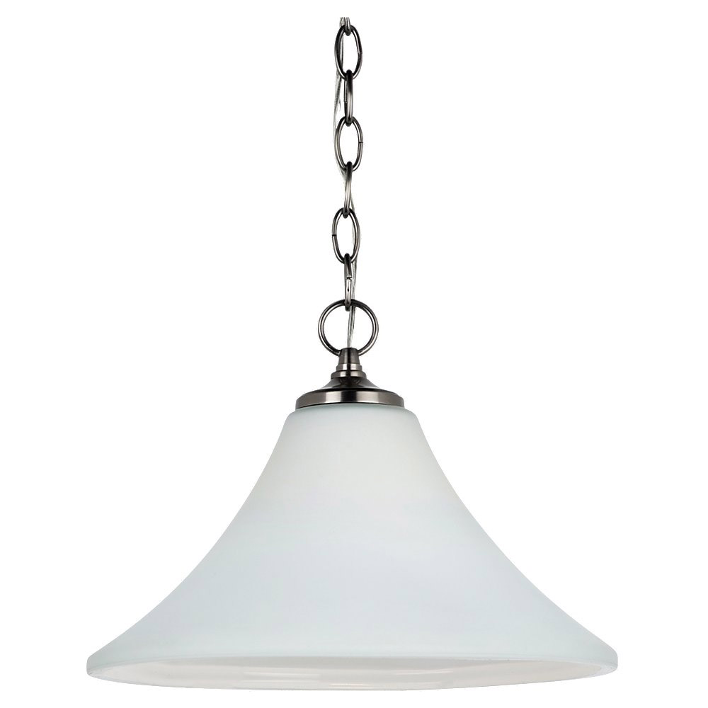 Sea Gull Lighting Montreal 1 Light Pendant Down Light in Antique Brushed Nickel 65180-965