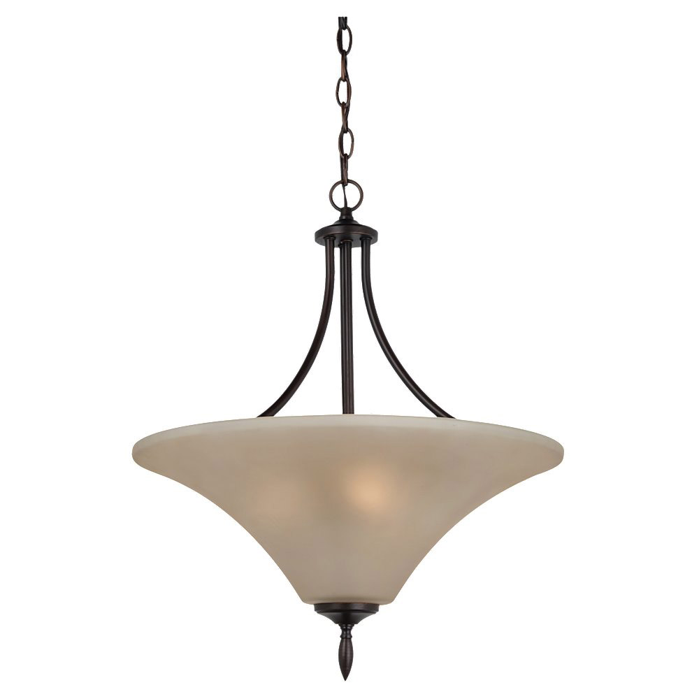Sea Gull Lighting Montreal 3 Light Pendant Up Light in Burnt Sienna 65181-710