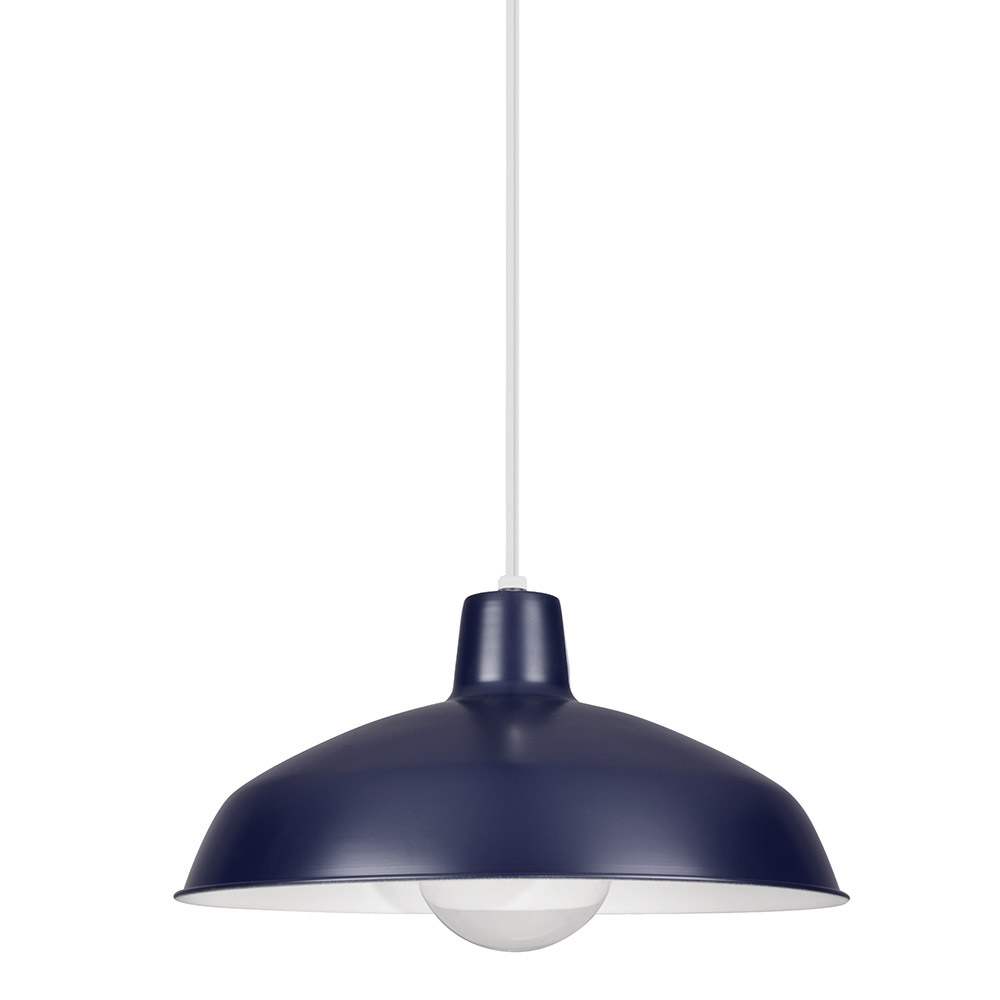 Sea Gull Painted Shade 1 Light Shade Pendant in Blue 6519-65