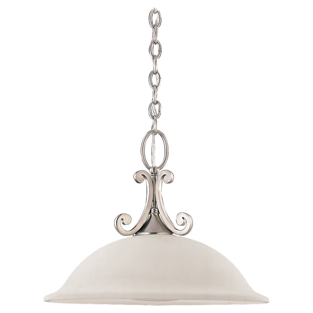 Sea Gull Lighting Serenity 1 Light Pendant in Brushed Nickel 65190-962 photo