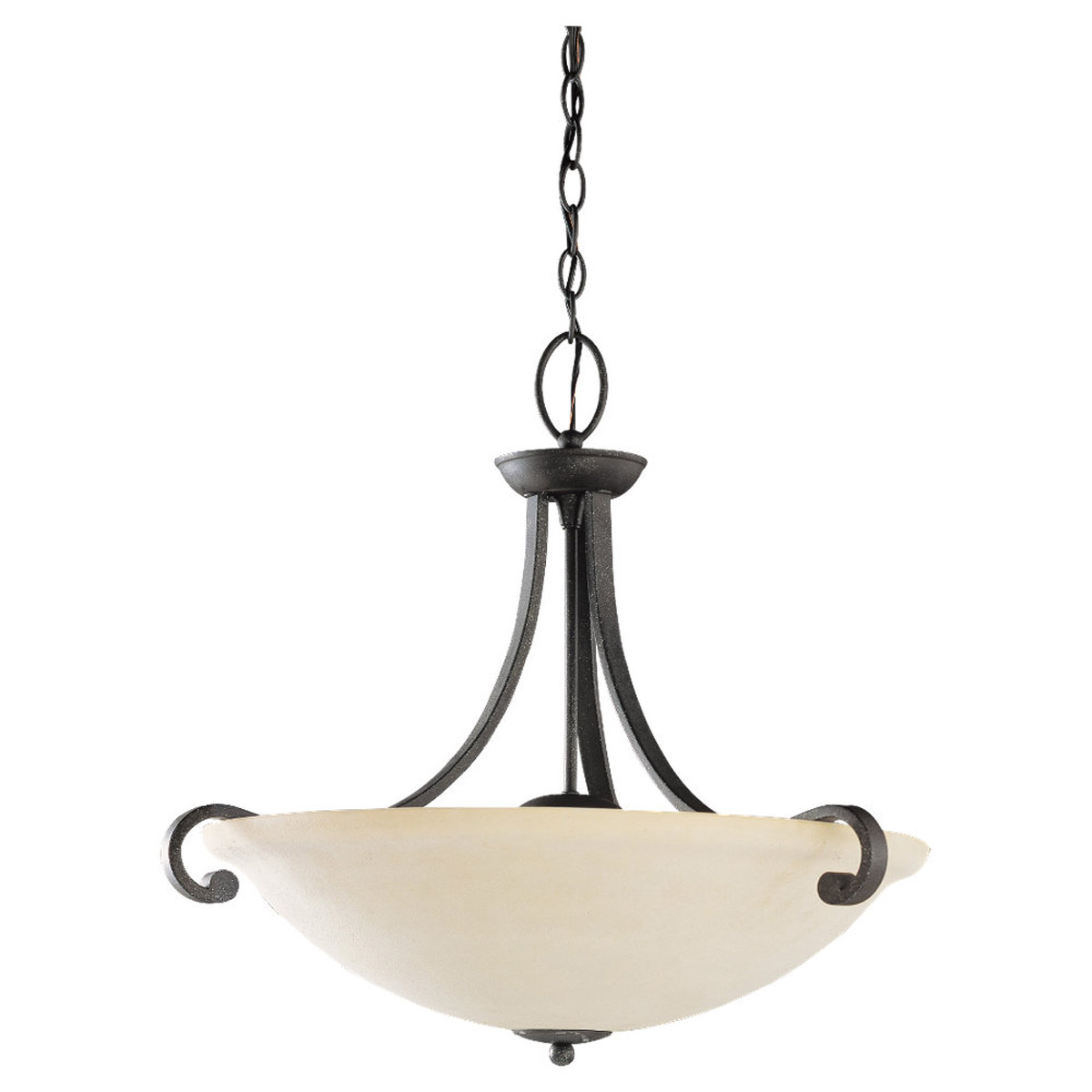 Sea Gull Lighting Serenity 3 Light Pendant in Weathered Iron 65191-07