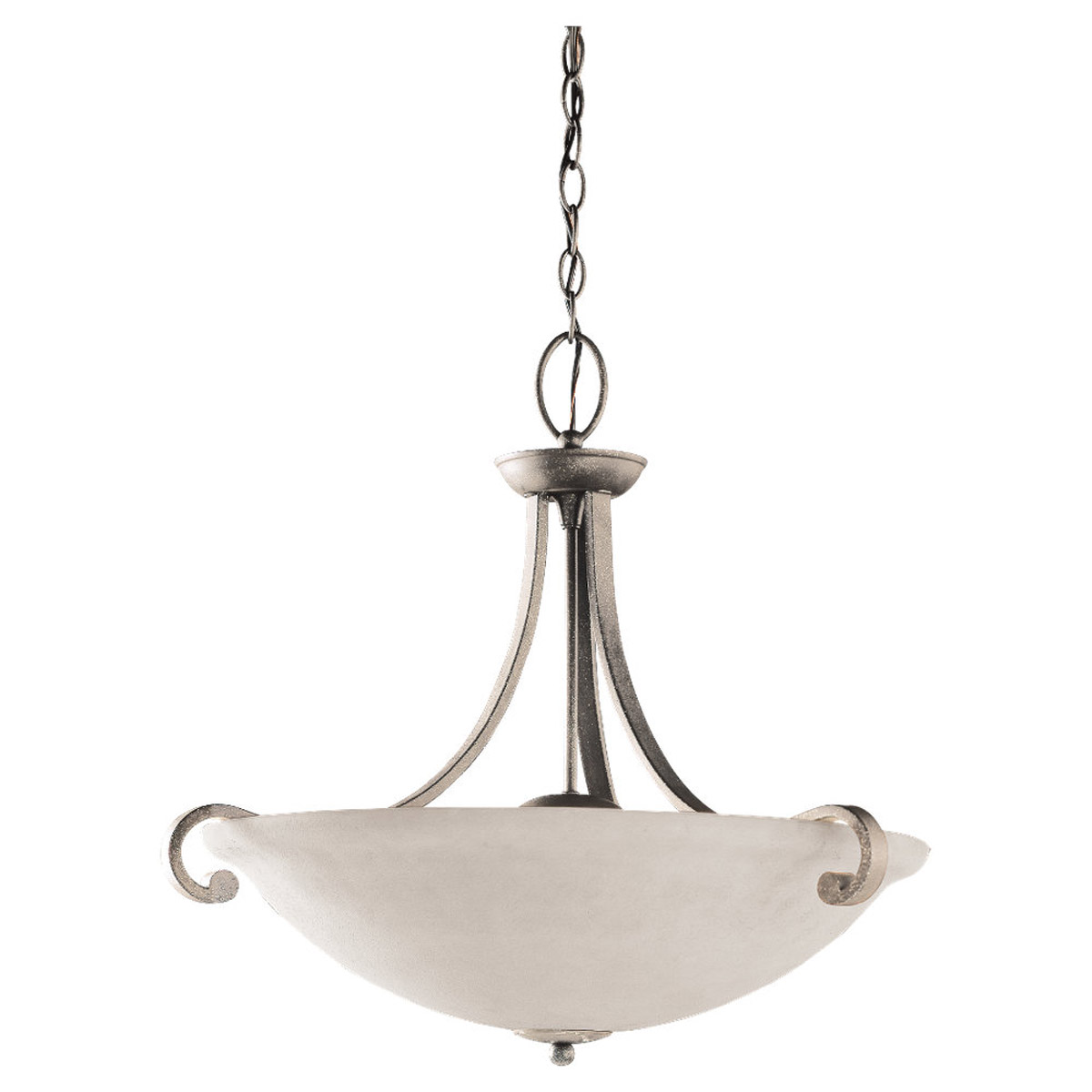 Sea Gull Lighting Serenity 3 Light Pendant in Brushed Nickel 65191-962 photo