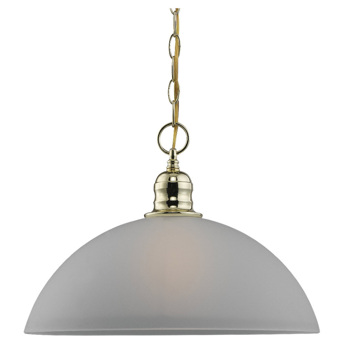 Sea Gull Lighting Linwood 1 Light Pendant in Polished Brass 65225-02