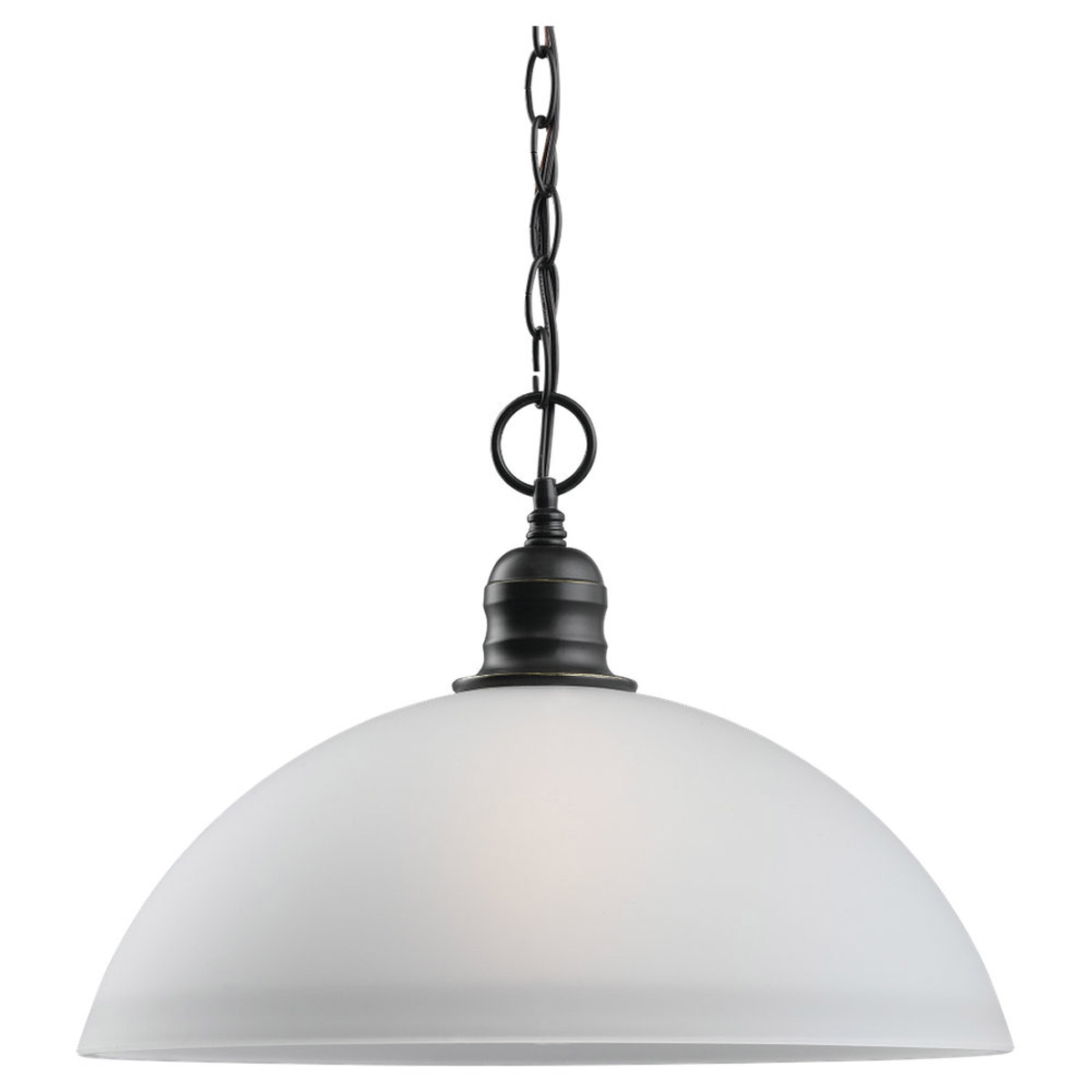 Sea Gull Lighting Linwood 1 Light Pendant in Heirloom Bronze 65225-782