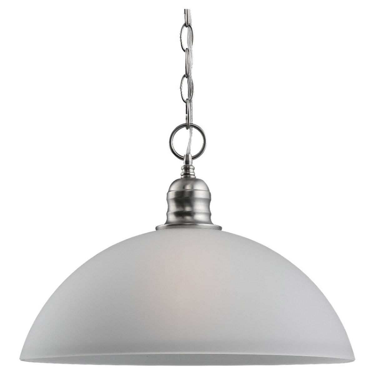 Sea Gull Lighting Linwood 1 Light Pendant in Brushed Nickel 65225-962