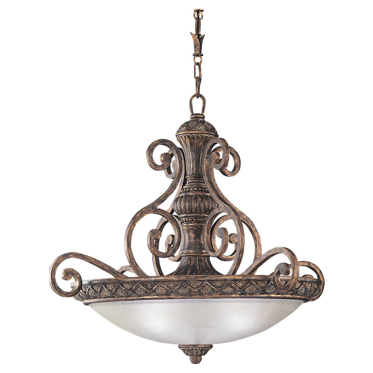 Sea Gull 65252-758 Highlands 3 Light 30 inch Regal Bronze Pendant Ceiling Light photo