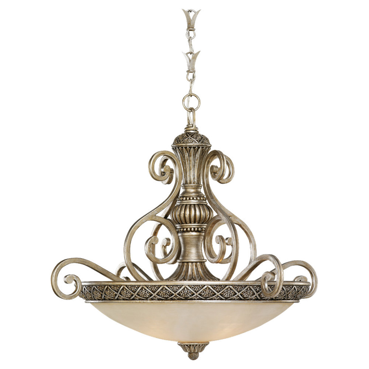 Sea Gull 65252-824 Highlands 3 Light 30 inch Palladium Pendant Ceiling Light photo