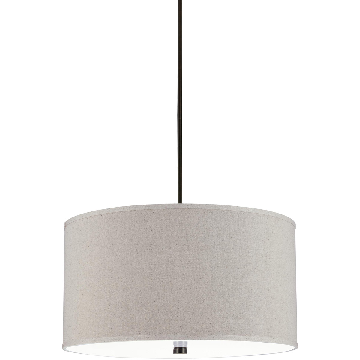 Sea Gull 65262-710 Dayna 4 Light 24 inch Burnt Sienna Shade Pendant Ceiling Light in Linen Fabric photo