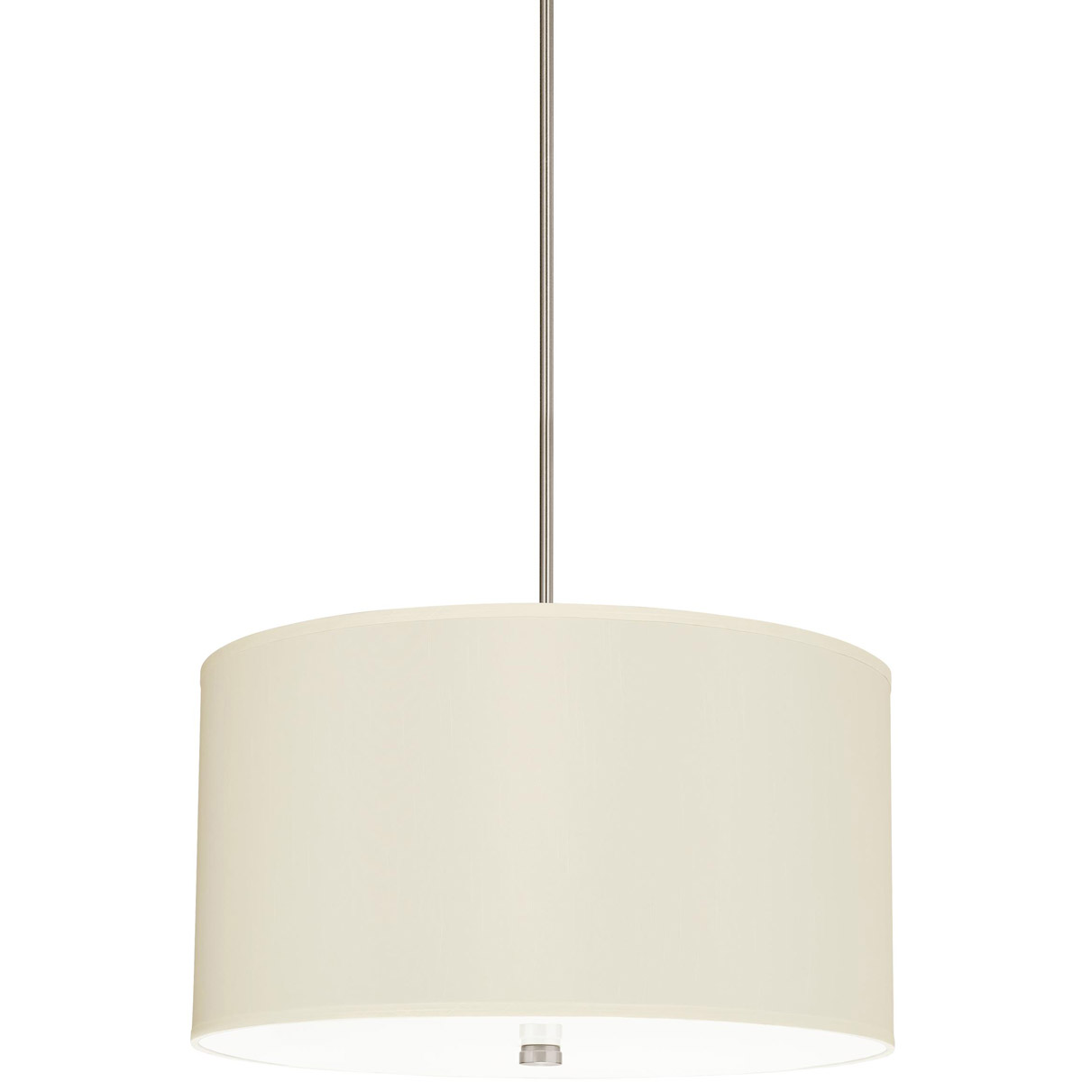 Sea Gull 65262-962 Dayna 4 Light 24 inch Brushed Nickel Shade Pendant Ceiling Light in Faux Silk Fabric, Standard photo