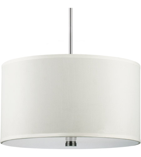 Sea Gull Lighting Dayna Fluorescent 3 Light Pendant in Brushed Nickel 65263BLE-962