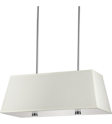 Sea Gull Lighting Dayna Fluorescent 4 Light Pendant in Brushed Nickel 65266BLE-962
