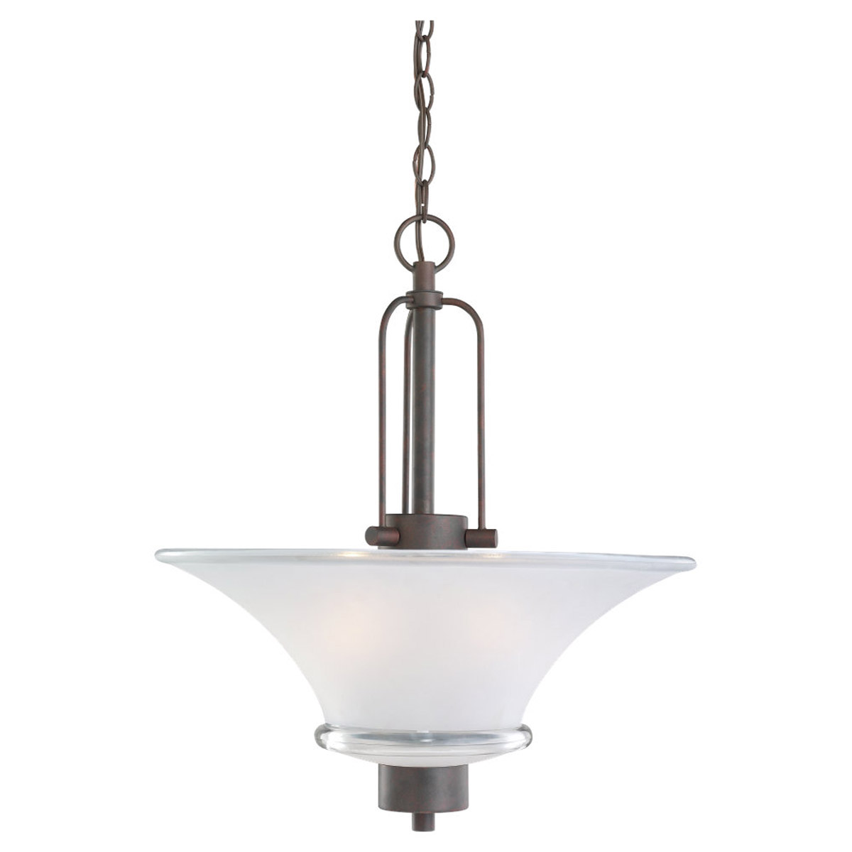 Sea Gull Lighting Newport 2 Light Pendant in Misted Bronze 65284-814