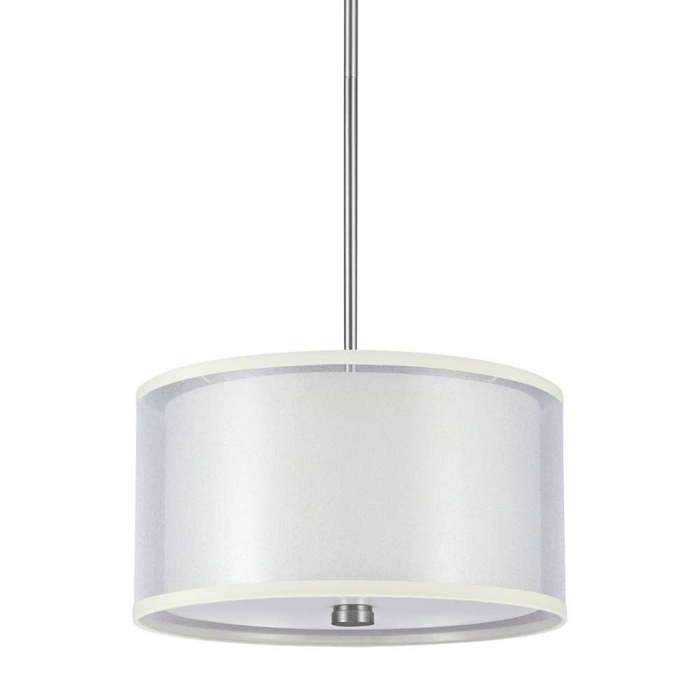 Sea Gull Jordyn 2 Light Shade Pendant in Brushed Nickel 65291BLE-962