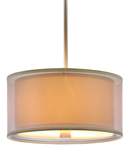 Sea Gull Lighting Jordyn Fluorescent 3 Light Pendant in Brushed Nickel 65292BLE-962