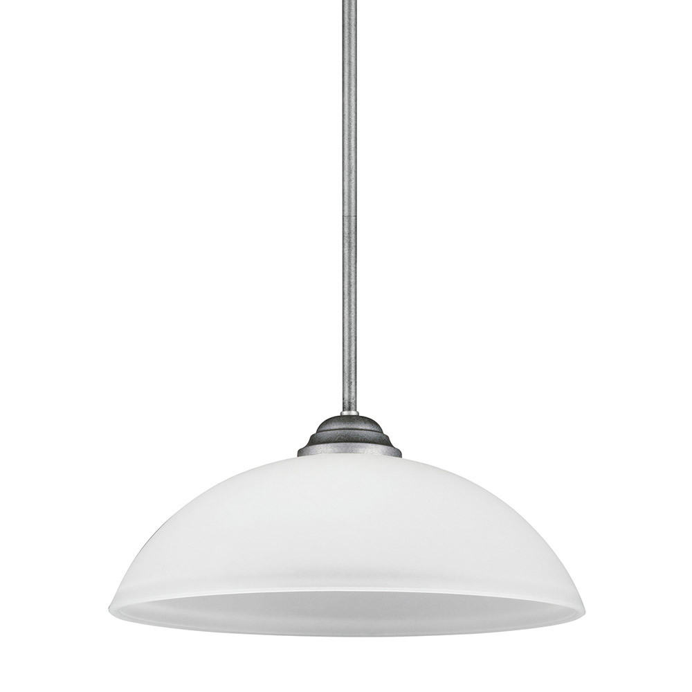 Sea Gull Vitelli 1 Light Pendant in Weathered Pewter 6531401-57