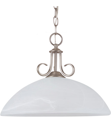 Sea Gull Lighting Lemont Fluorescent 1 Light Pendant in Antique Brushed Nickel 65316BLE-965 photo