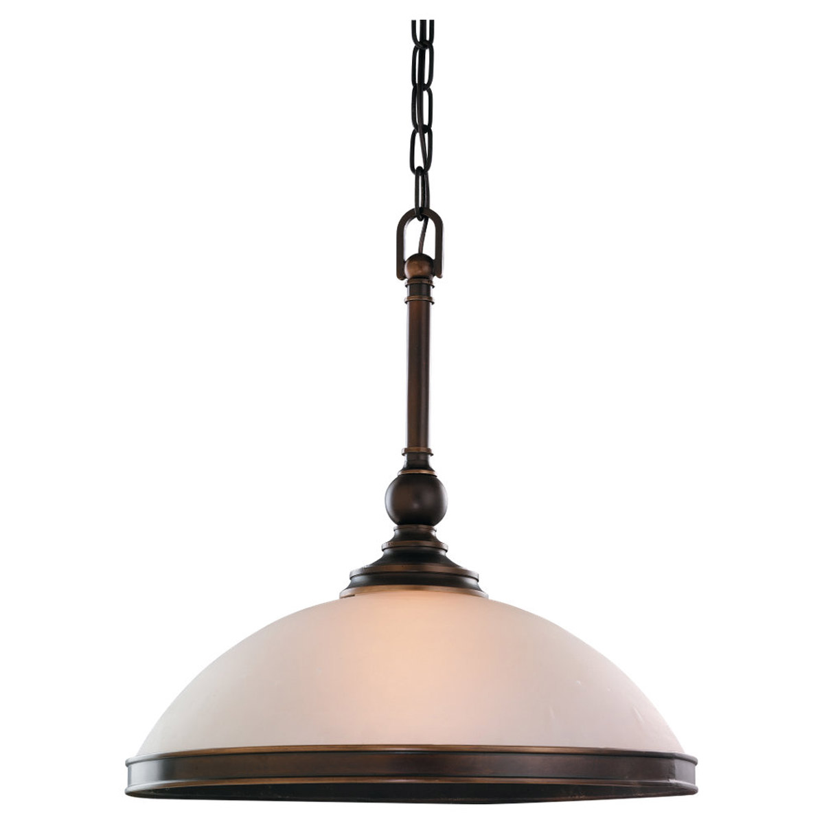 Sea Gull Lighting Warwick 1 Light Pendant in Vintage Bronze 65330-825