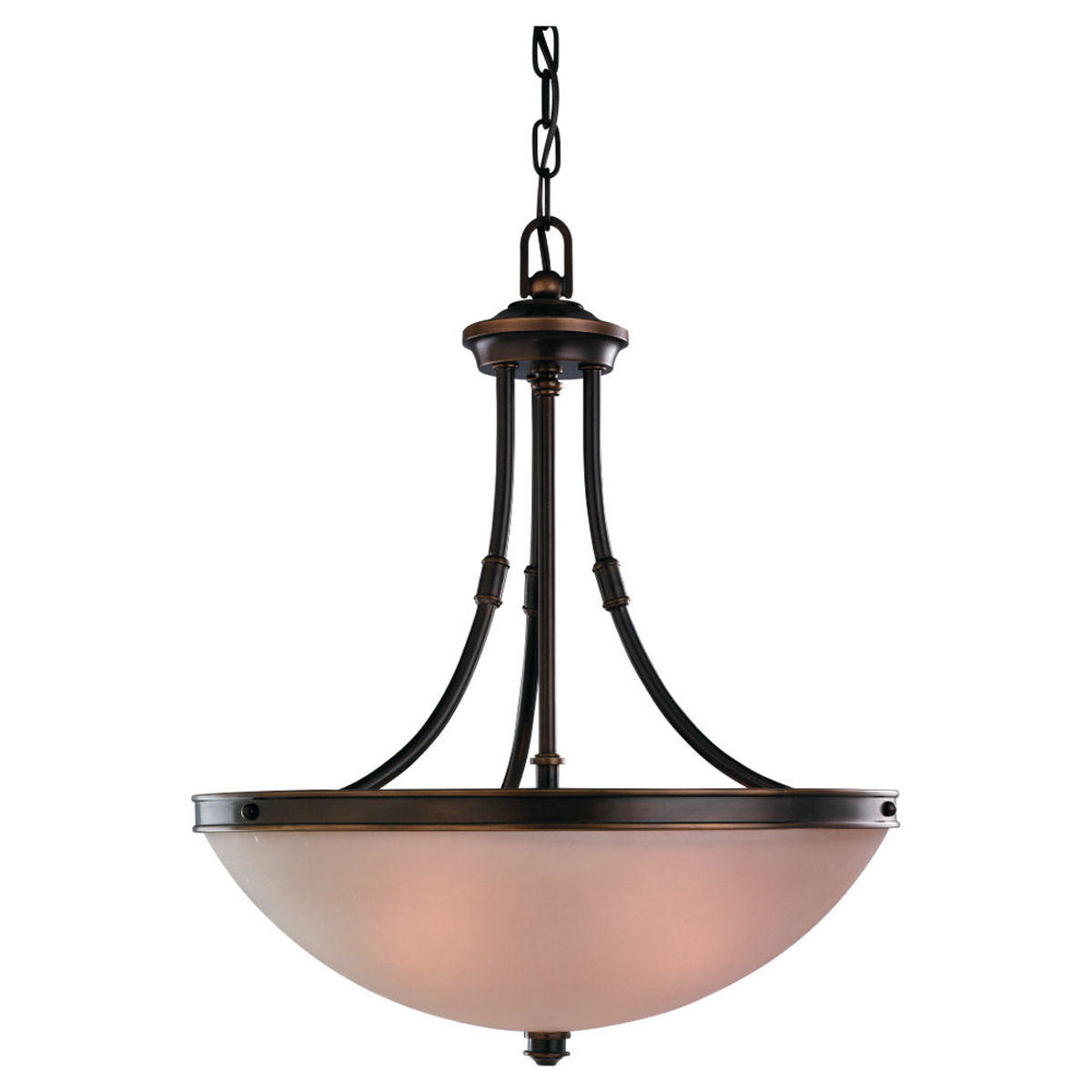 Sea Gull Lighting Warwick 3 Light Pendant in Vintage Bronze 65331-825 photo