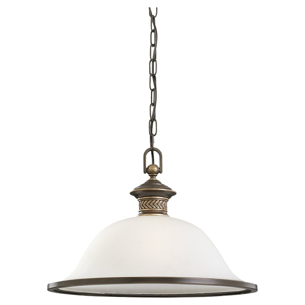 Sea Gull Lighting Laurel Leaf 1 Light Pendant in Estate Bronze 65350-708