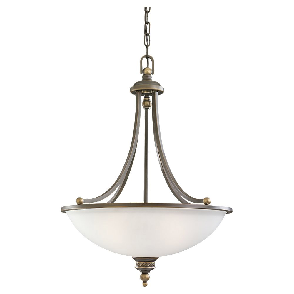 Sea Gull Lighting Laurel Leaf 3 Light Pendant in Estate Bronze 65351-708