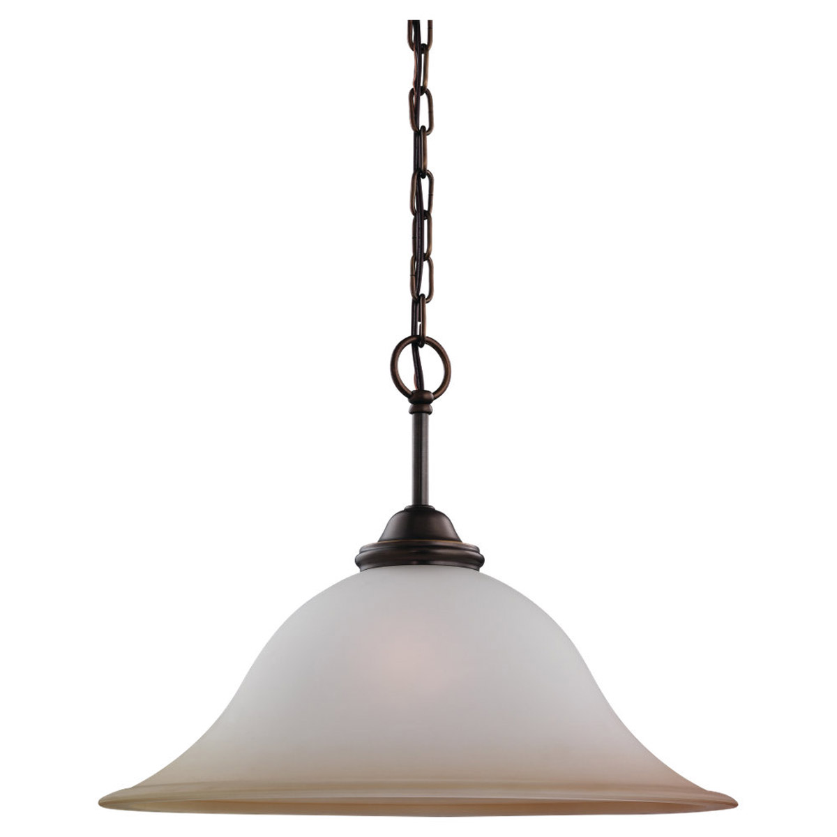 Sea Gull 65360-829 Rialto 1 Light 18 inch Russet Bronze Pendant Ceiling Light in Ginger Glass photo
