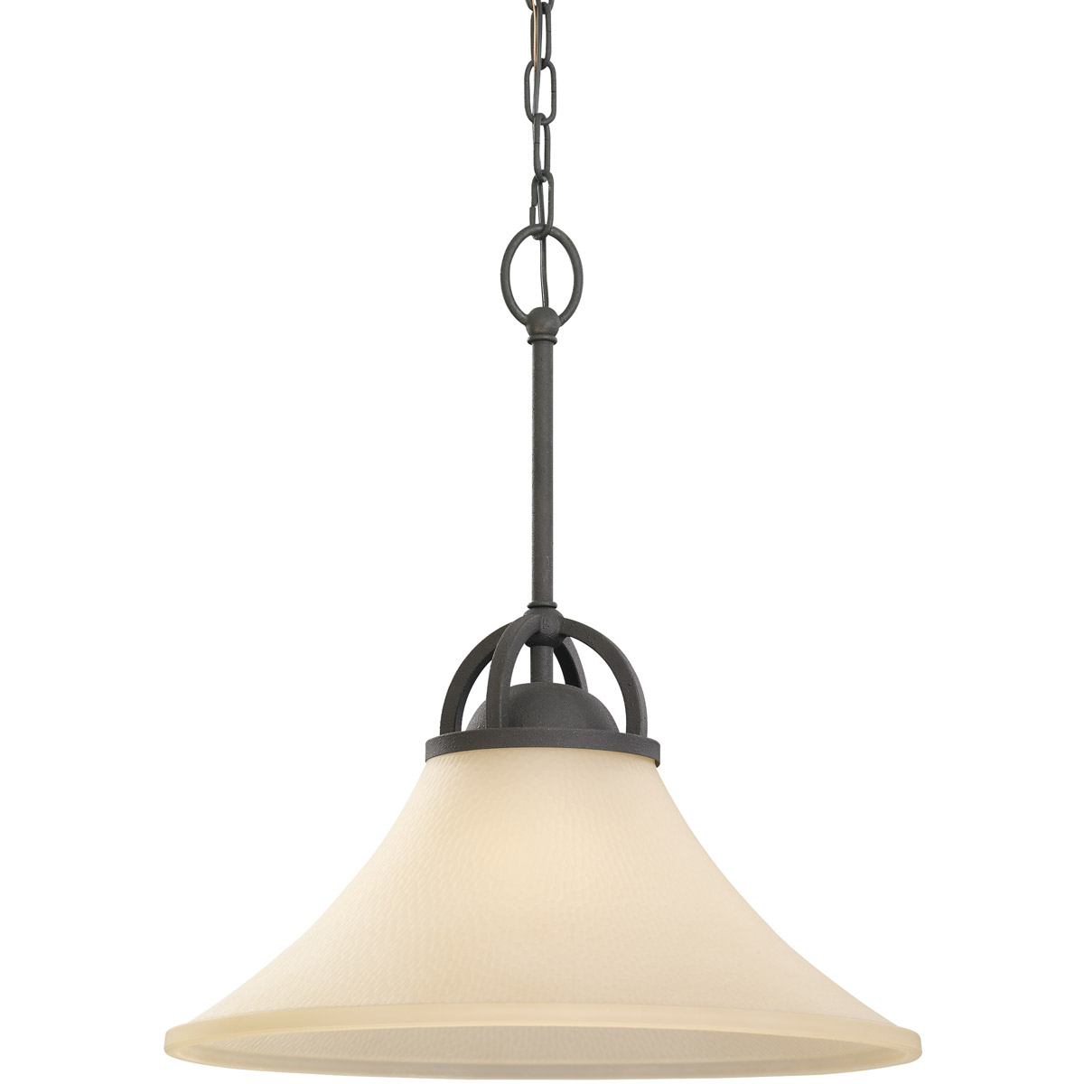 Sea Gull 65375BLE-839 Somerton 1 Light 16 inch Blacksmith Pendant Ceiling Light in Cafe Tint Glass, Fluorescent photo