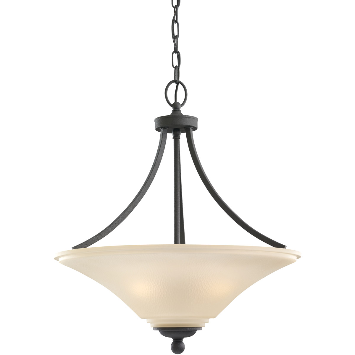 Sea Gull 65376-839 Somerton 3 Light 21 inch Blacksmith Pendant Ceiling Light in Cafe Tint Glass, Standard photo