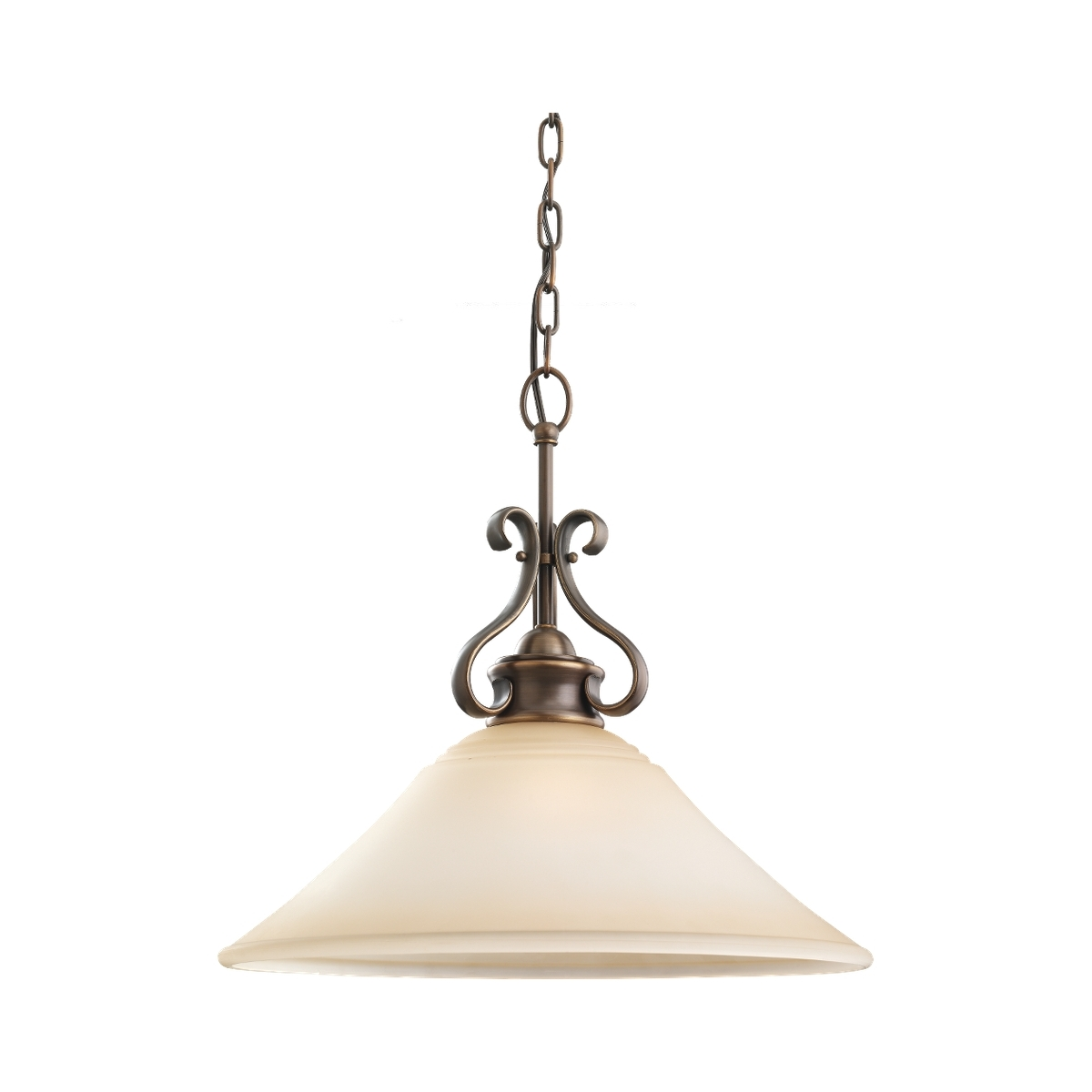Sea Gull 65380-829 Parkview 1 Light 19 inch Russet Bronze Pendant Ceiling Light in Ginger Glass, Standard photo