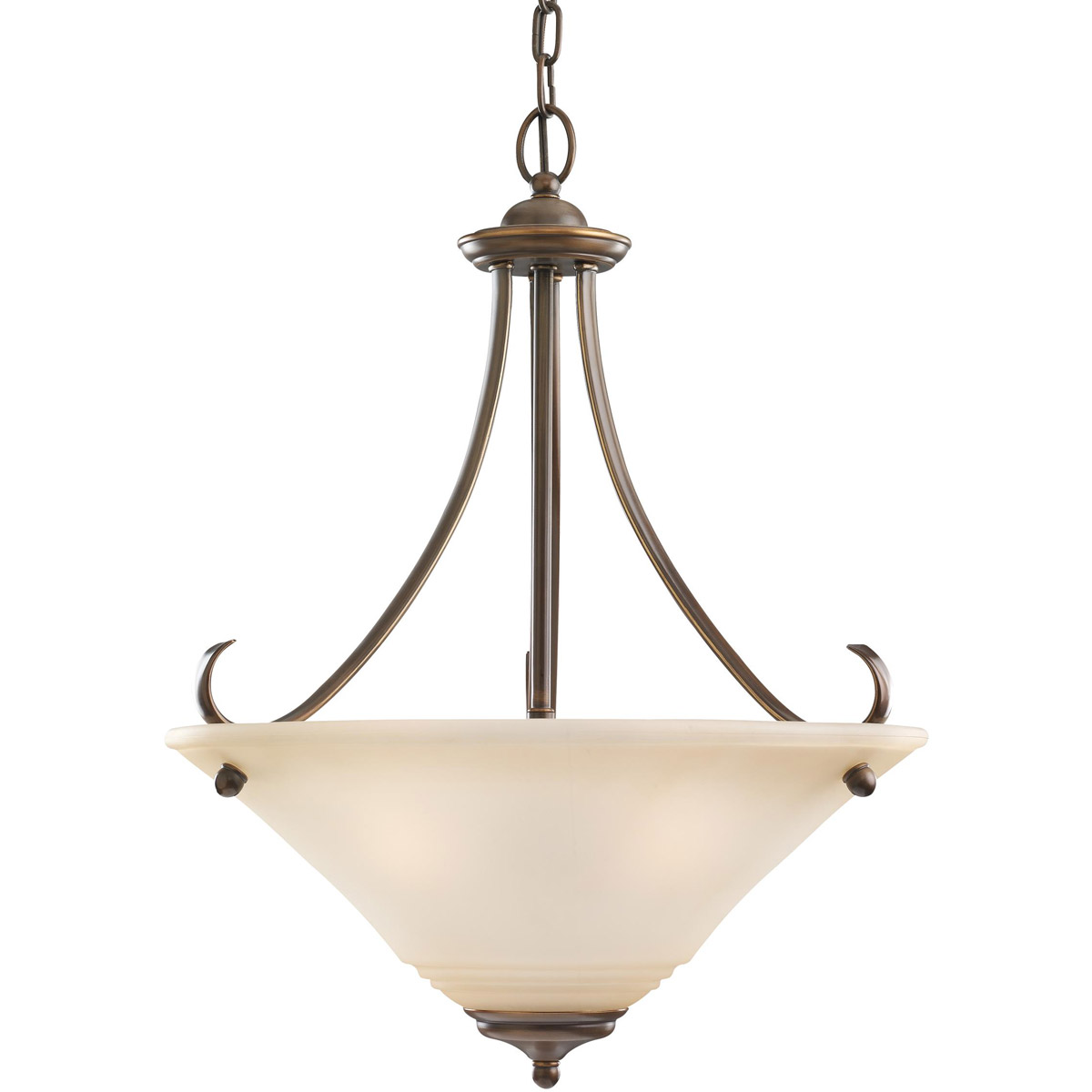 Sea Gull 65381-829 Parkview 3 Light 20 inch Russet Bronze Pendant Ceiling Light in Ginger Glass photo