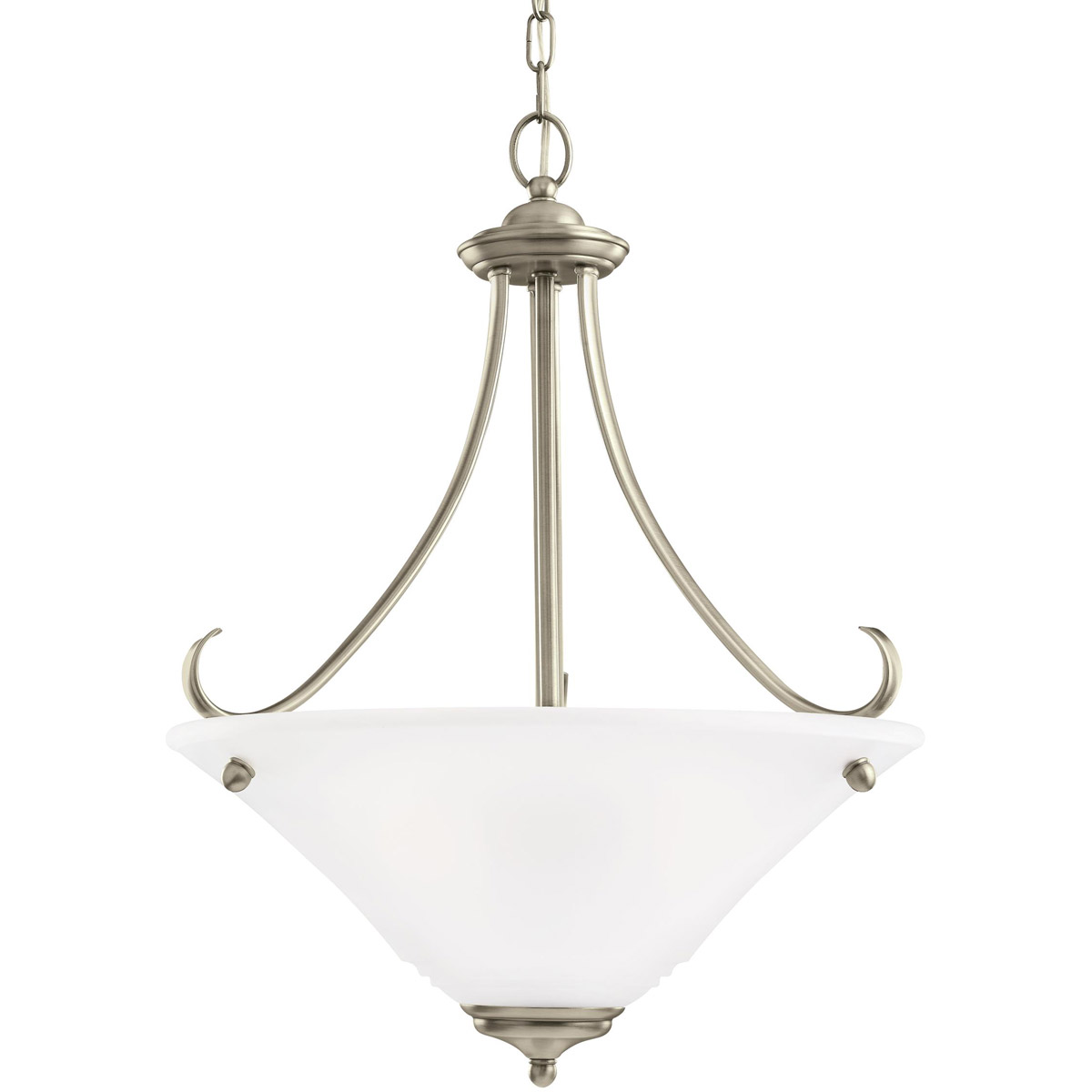 Sea Gull 65381-965 Parkview 3 Light 20 inch Antique Brushed Nickel Pendant Ceiling Light in Satin Etched Glass photo