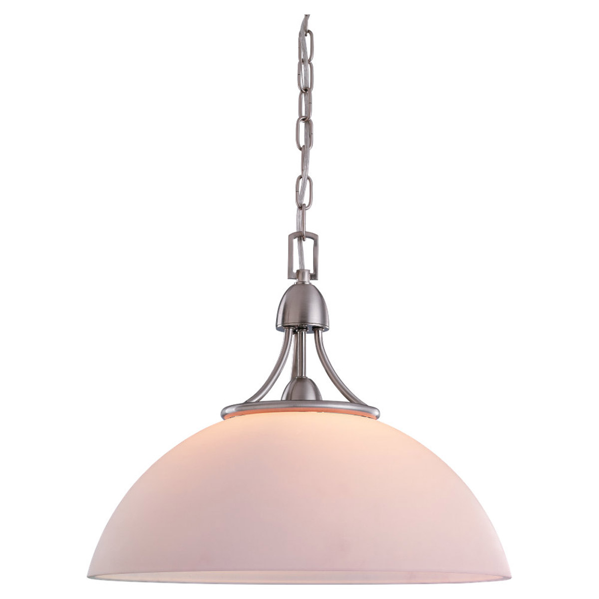 Sea Gull Lighting Stockholm 1 Light Pendant in Brushed Nickel 65385-962