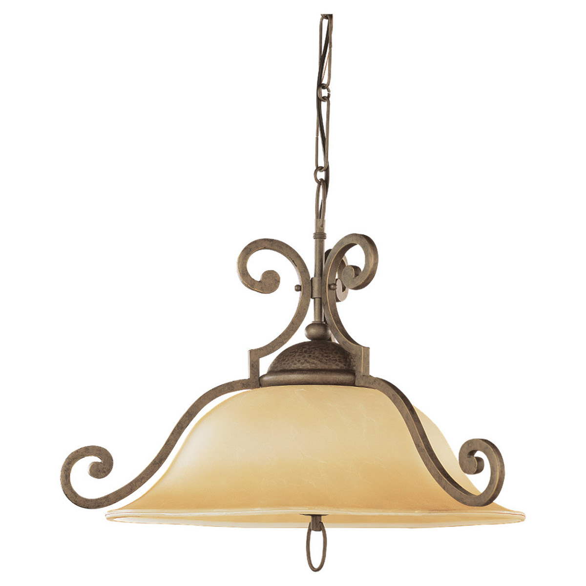 Sea Gull Lighting Brandywine 1 Light Pendant in Antique Bronze 65430-71