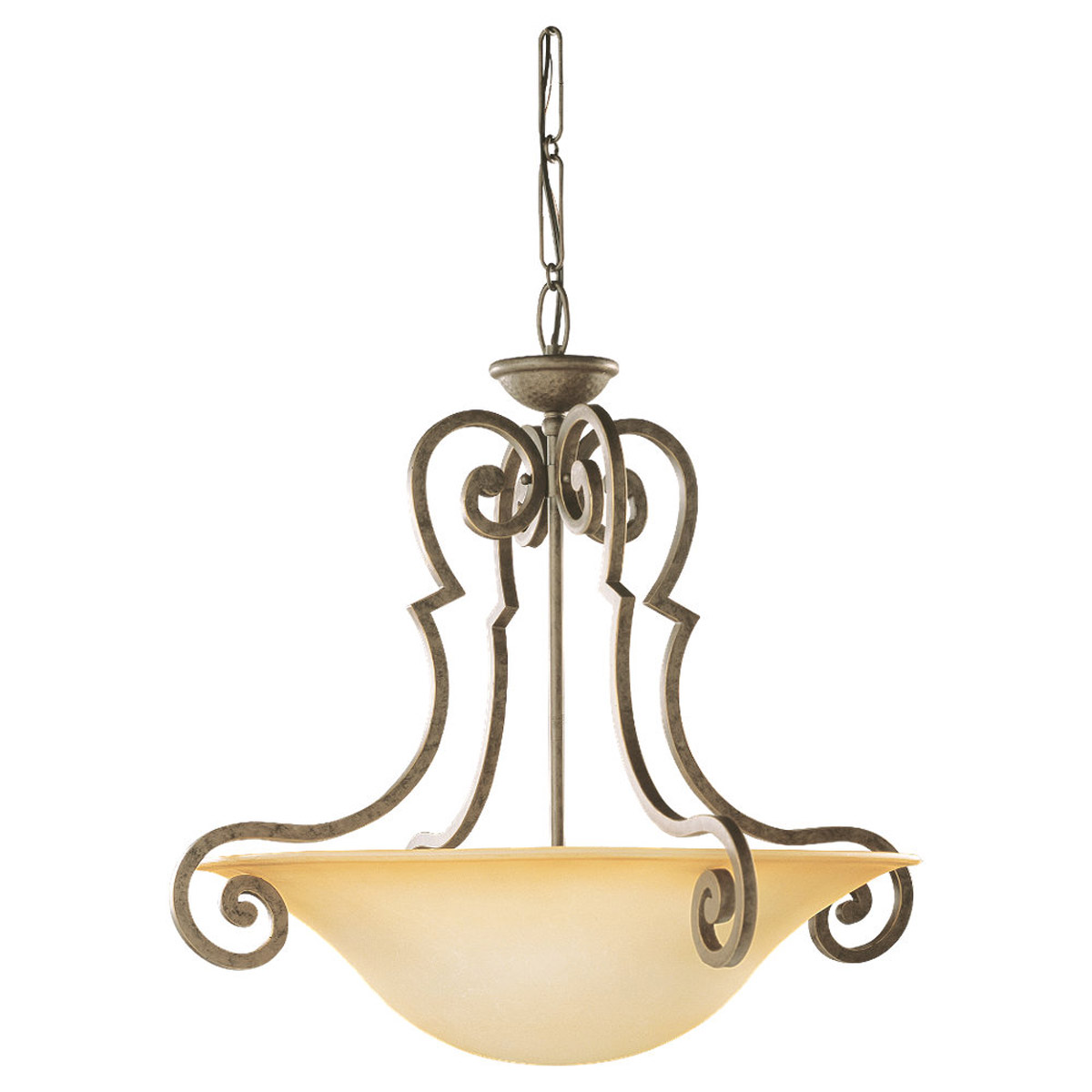 Sea Gull Lighting Brandywine 3 Light Pendant in Antique Bronze 65431-71 photo