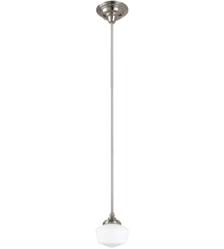 Sea Gull Lighting Academy 1 Light Pendant in Brushed Nickel 65436-962